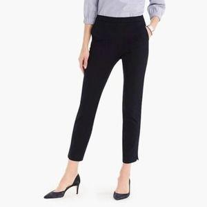 J Crew Black Tall Martie Bi-Stretch Cotton Pants